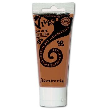 Stamperia Vivace Acrylic Paint 60ml Burnt Sienne (KAB08)