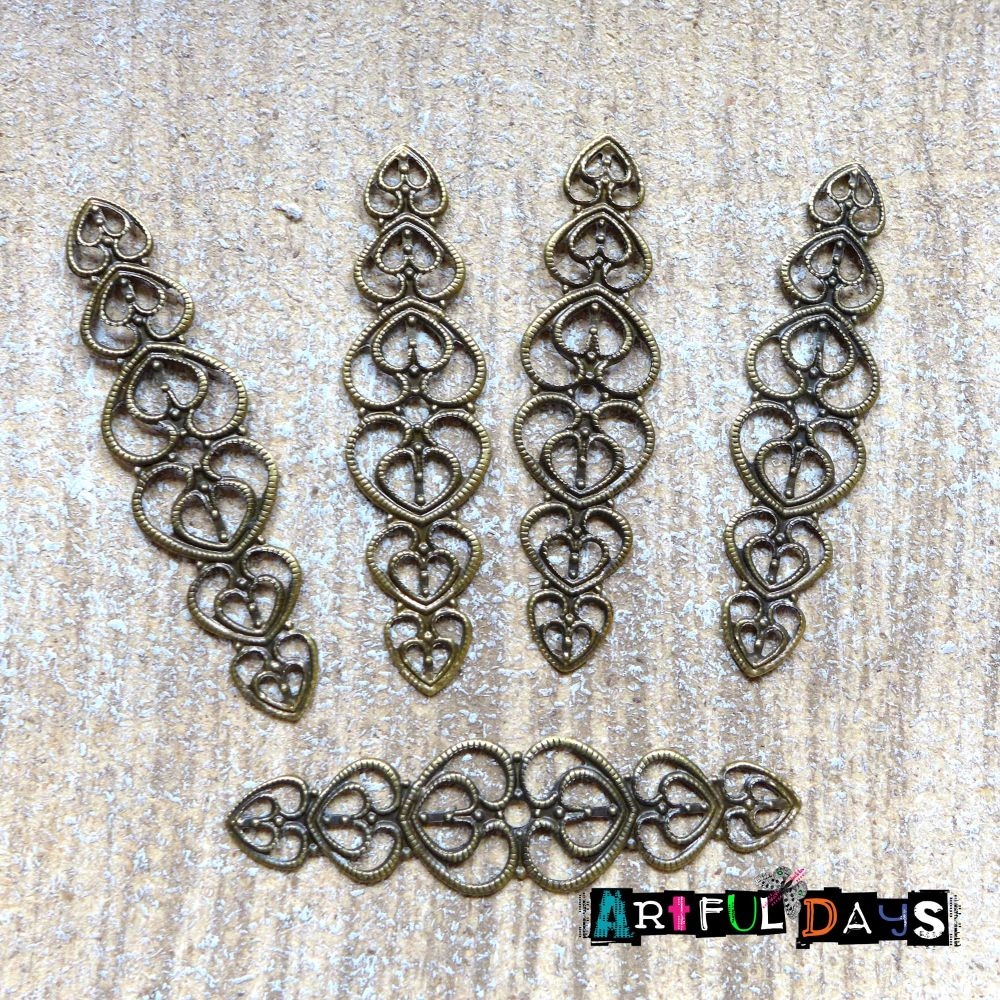 Bronze Filigree Wraps (C170)