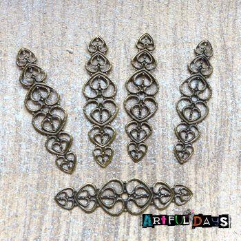 Bronze Filigree Wraps (C170)