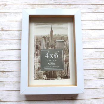 "Recess White Frame 4x6"" (10x15cm)"