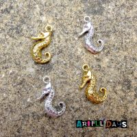 Silver & Gold Mini Seahorse Charms (C004)