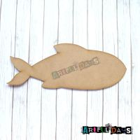 Artful Days MDF Sea Critters Collection - Large Fish (ADM036)