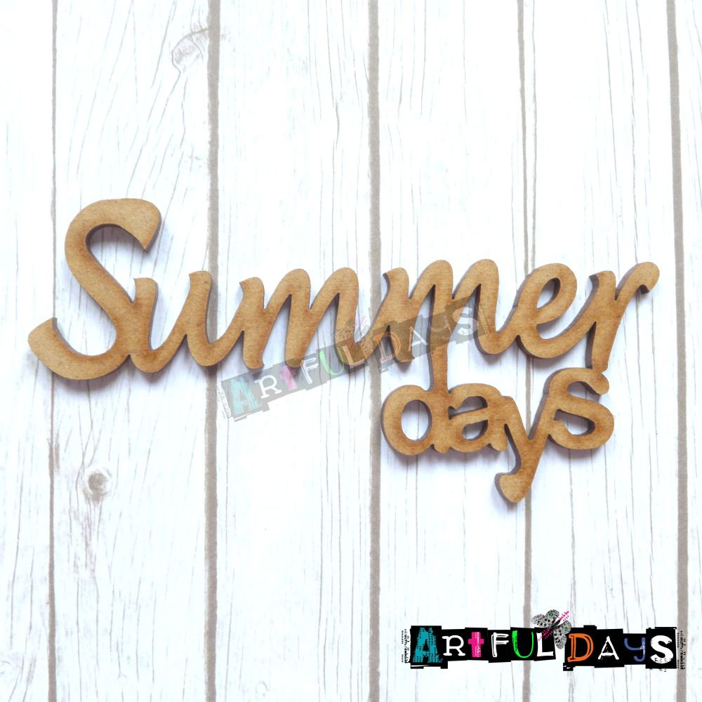 Artful Days MDF Sea Critters Collection - Summer Days Word (ADM009)