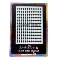 Artful Days A6 Stencil Collection - Harlequin (ADS007)