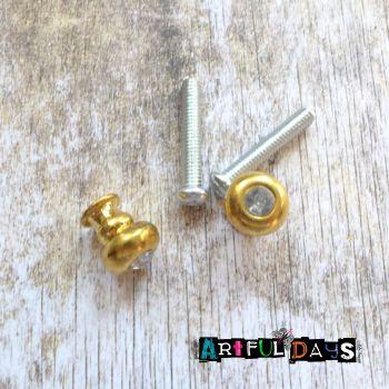 Crystal Gem Gold Round Handles (H2003)