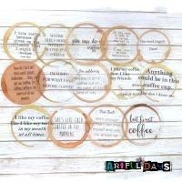 Coffee Lovers Quote Circle Stickers (PA026)