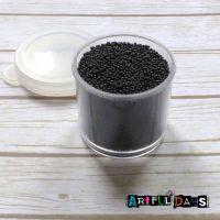 Petite Pots ~ Translucent Micro Beads Black 18
