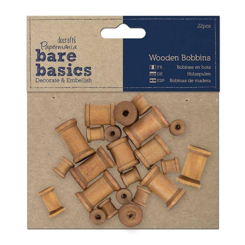 Papermania Bare Basics Wooden Bobbins (PMA 174603)