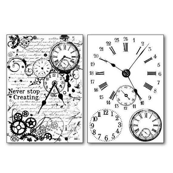 Stamperia Transfer Paper A4 Clocks (DFTR065)