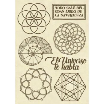 Stamperia Wooden Shapes A6 Sacred Geometry (KLSPA611)