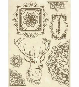 Stamperia Cosmos Wooden Shapes A5 Cosmos Deer (KLSP057)