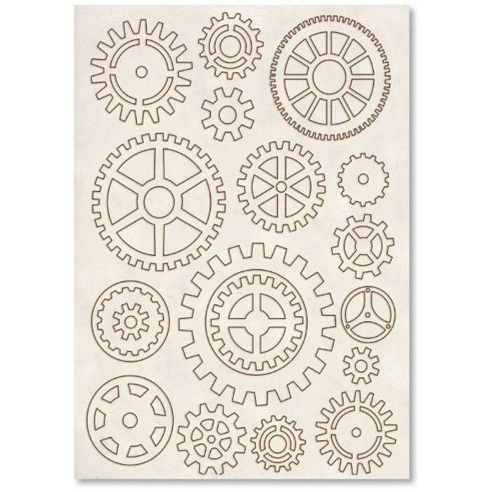 Stamperia Wooden Shapes A5 Cogs & Gears (KLSP006)