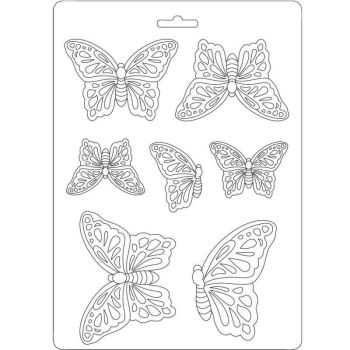 Stamperia Soft Mould A5 Butterflies (K3PTA531)