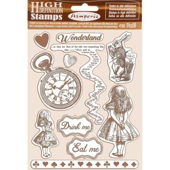 Stamperia Alice Natural Rubber Stamp (WTKCC185)