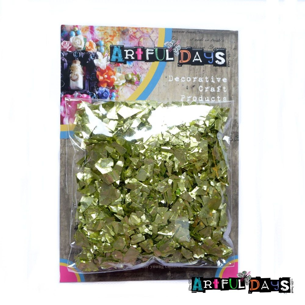 Artful Days Green/Gold Flakes