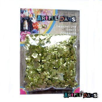 Artful Days Metallic Foiled Green/Gold Flakes