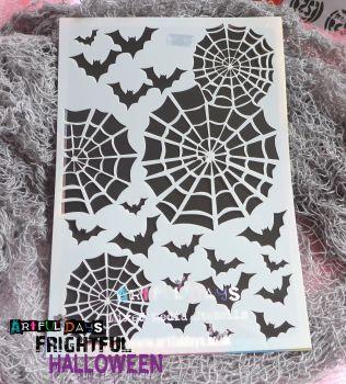 Artful Days A5 Stencils - Bats & Webs (ADS008)