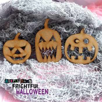 Artful Days MDF Frightful Halloween - Pumpkin Trio (ADM047)