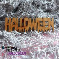 Artful Days MDF Frightful Halloween - Halloween  Word (ADM052)