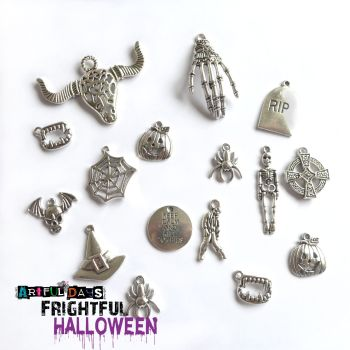 Frightful Halloween Silver Charm Mix