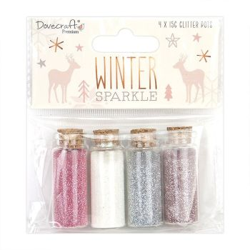 Dovecraft Winter Sparkle Glitter Pots (DCTOP190X20)