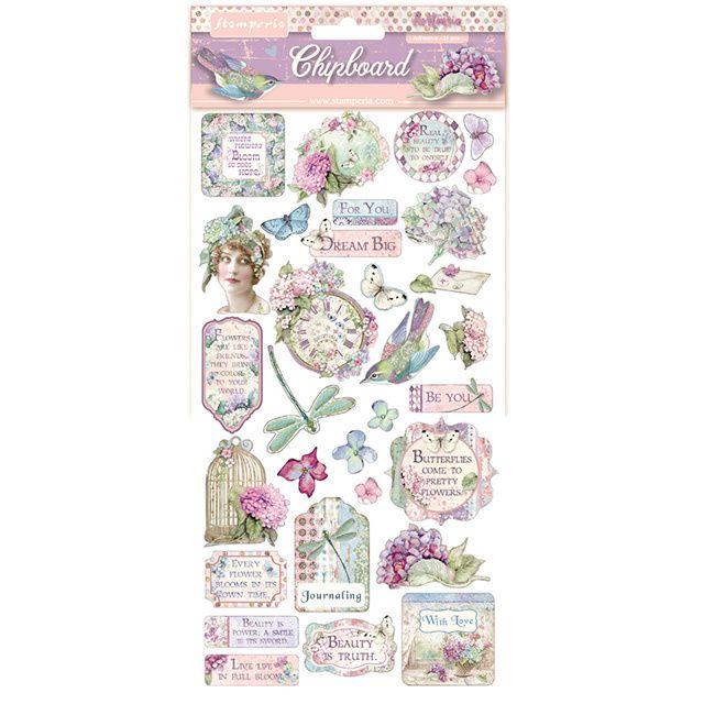 Stamperia Hortensia Chipboard (DFLCB04)
