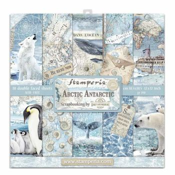 "Stamperia Arctic Antarctic 12 x 12"" Double sided Scrapbooking Papers"