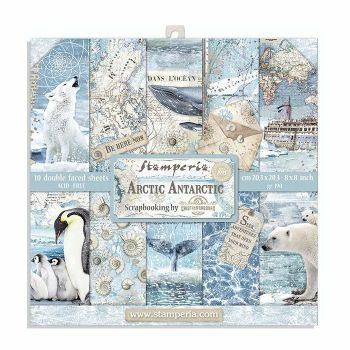 Stamperia Arctic Antarctic 8 x 8 Double sided Scrapbooking Papers