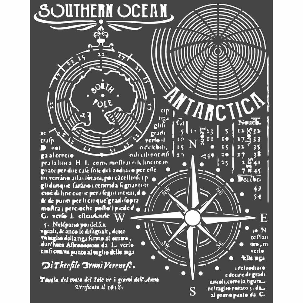 Stamperia Arctic Antarctic Thick Stencil Southern Ocean (KSTD055)