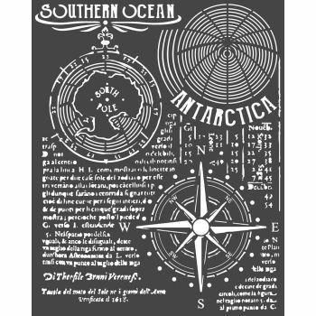 Stamperia Arctic Antarctic Thick Stencil Southern Ocean (KSTD055)