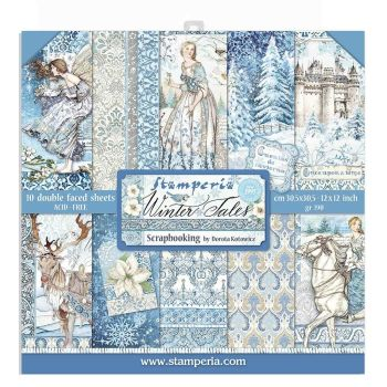 "Stamperia Winter Tales 12 x 12"" Double sided Scrapbooking Papers"