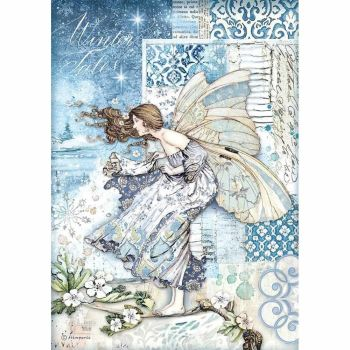 Stamperia Winter Tails  Fairy in the Wind  A4  Rice Paper (DFSA4488)