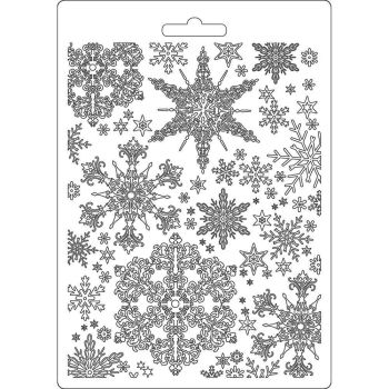 Stamperia Winter Tales  Soft Mould A5 Snowflakes (K3PTA556)