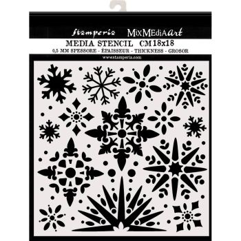 Stamperia Thick Stencil 18x18cm Snowflakes (KSTDQ49)