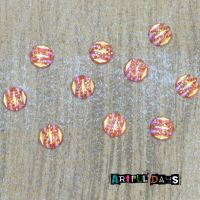 Textured Orange Cabochons (CA3013)