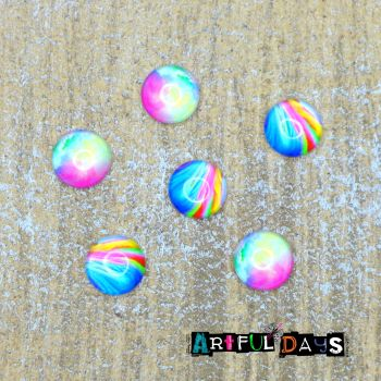 Bright Colour Glass Cabochons  (CA3000)