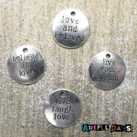 Silver Word Charms (C063)