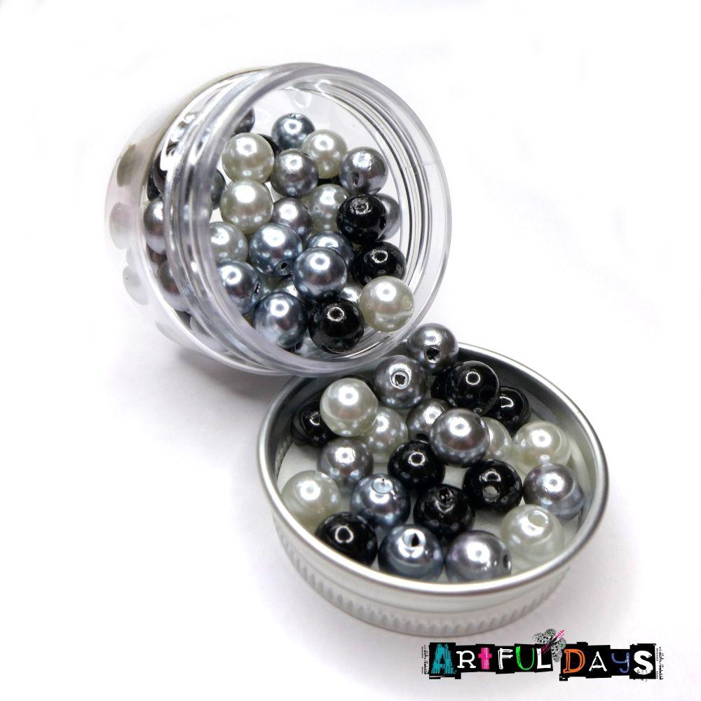 Triple Tone Pearl Bead Pots - Grunge