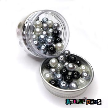 Triple Tone Pearl Bead Pots - Midnight