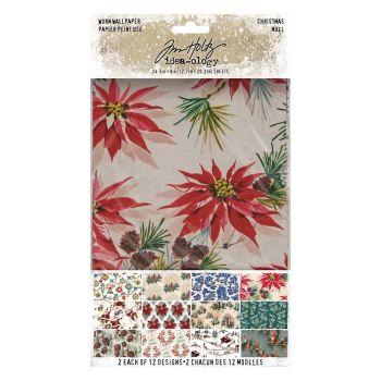 Tim Holtz Worn Wallpaper Christmas (TH94088)
