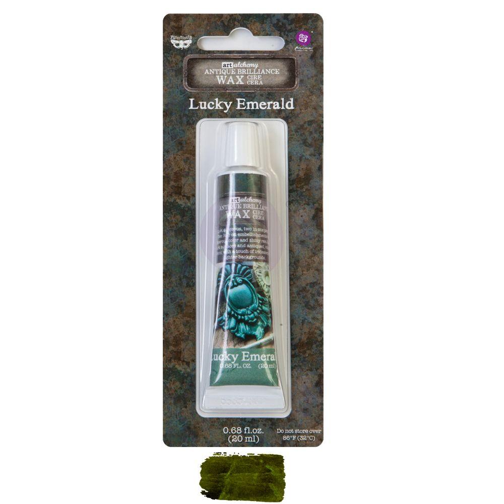 Prima Marketing Art Alchemy Antique Brilliance Wax ~ Lucky Emerald