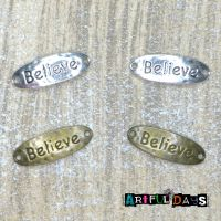Believe - Bronze & Silver Charms  (C036)