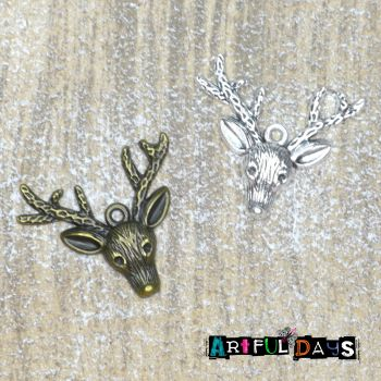 Reindeer Face Charms (C160)
