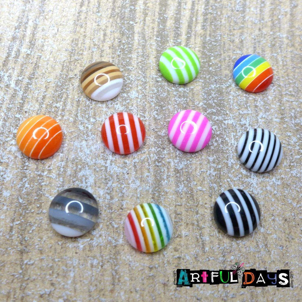 Sweet Striped Candy Cabochons (CA3038)