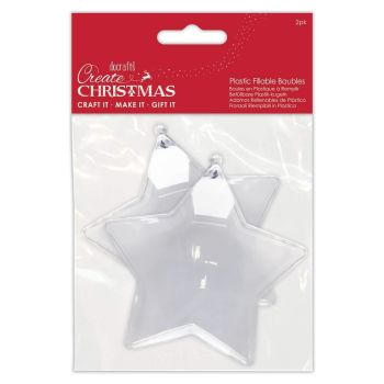Papermania Plastic Fillable Baubles 2 Stars (PMA 105980)