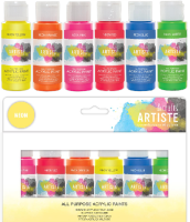 Docrafts Artiste Acrylic Paint Pack 6x59ml Neon (DOA 7632993)
