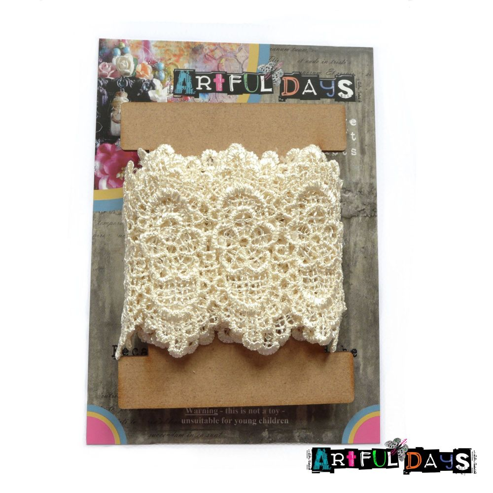 Luxury Trims ~ Crochet Lace Chatsworth Cream 1 Meter