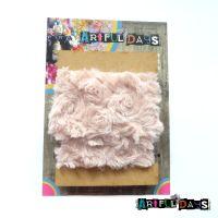 Luxury Trims ~ Fluffy Mocha Soft Pink 1 Meter