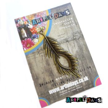 Treasured Artefacts - Large Bronze Feather (TA201)