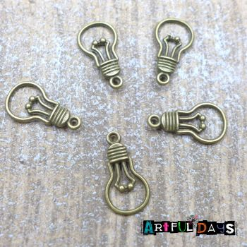 Bronze Lightbulb Charms (C173)
